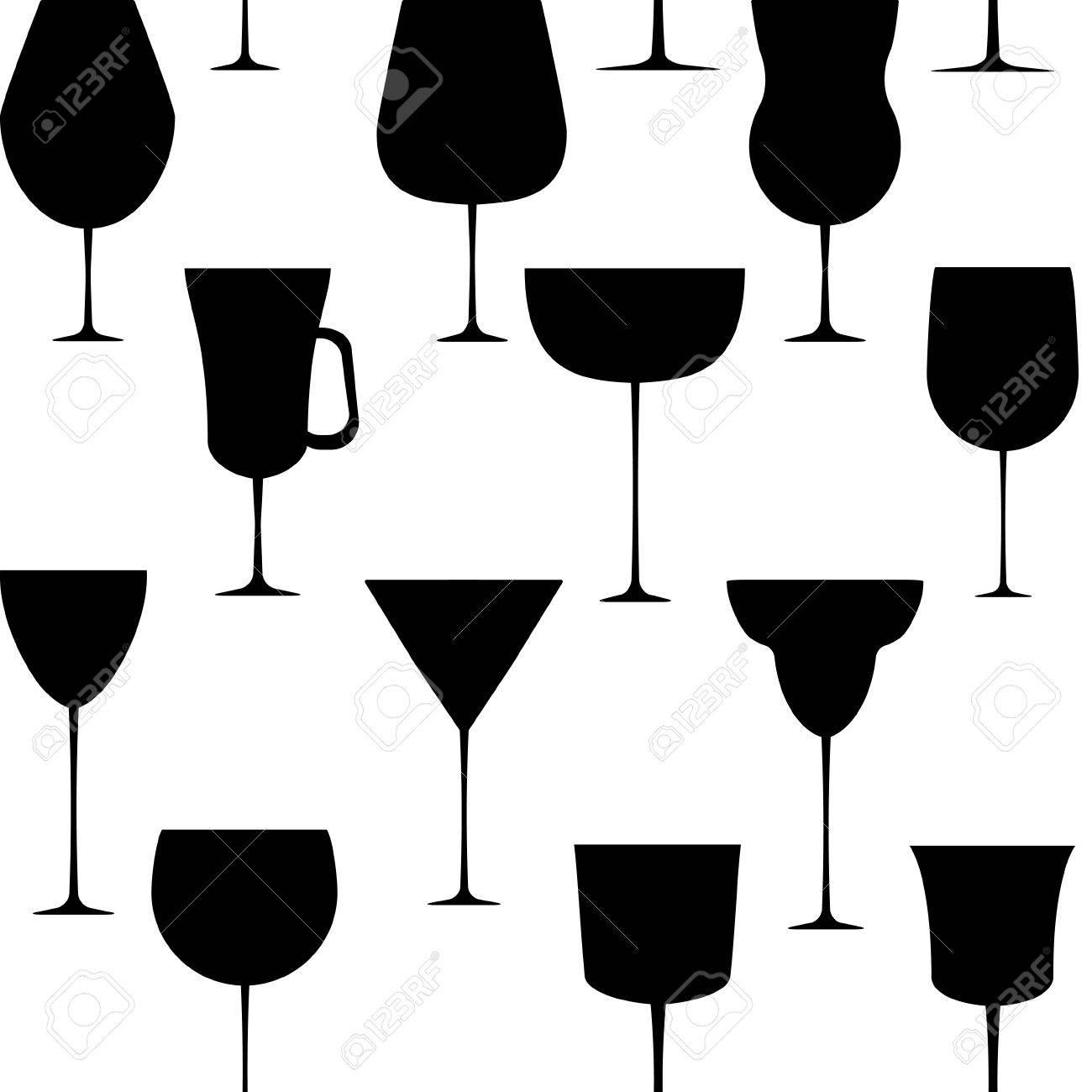 Alcoholic glass seamless pattern  illustration Stock Vector - 16116205