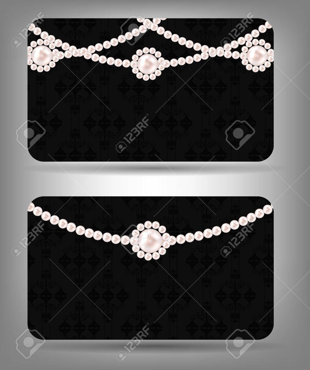Card with Beauty pearl  Vector illustration Stock Vector - 16852897
