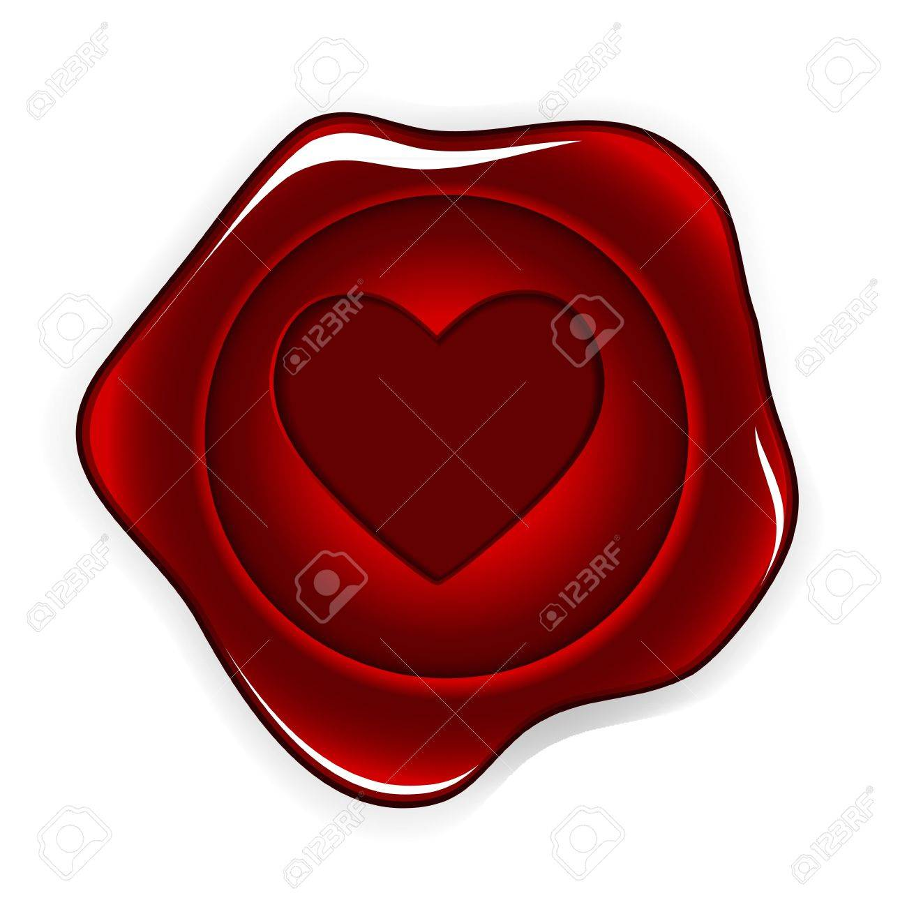 wax seal heart vector illustration Stock Vector - 17059374