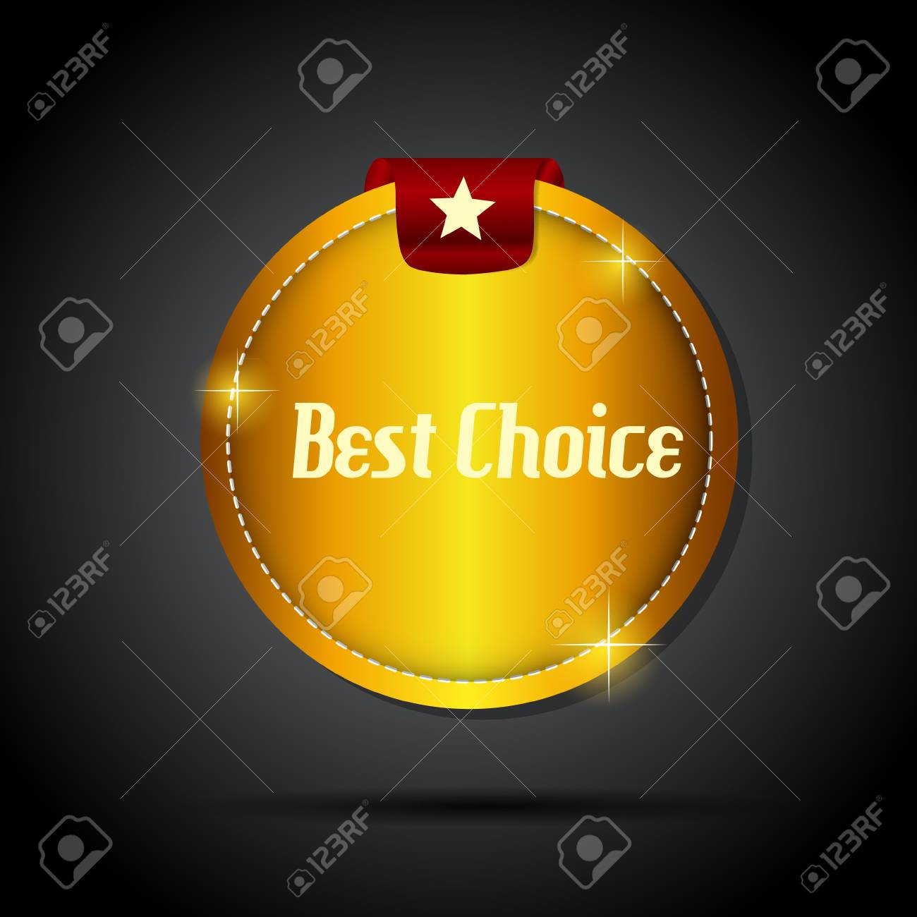 Vector best choice  label with red ribbon Stock Vector - 17361213