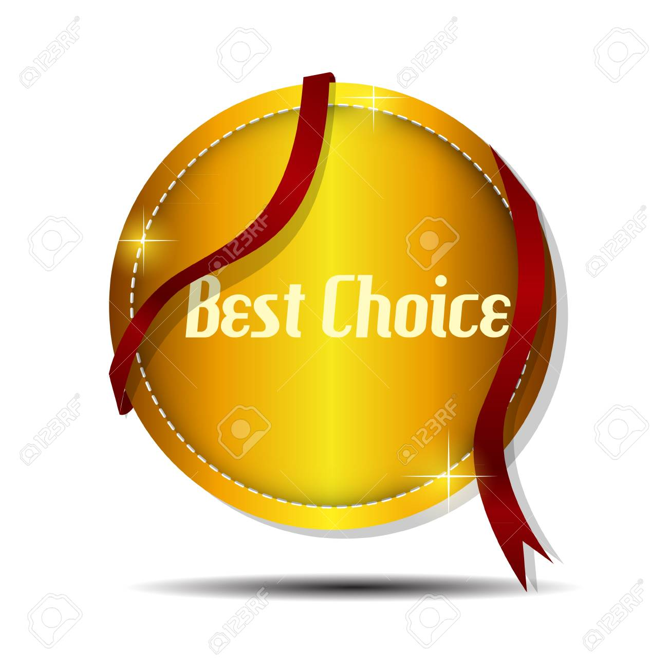 Vector best choice  label with red ribbon Stock Vector - 17539421