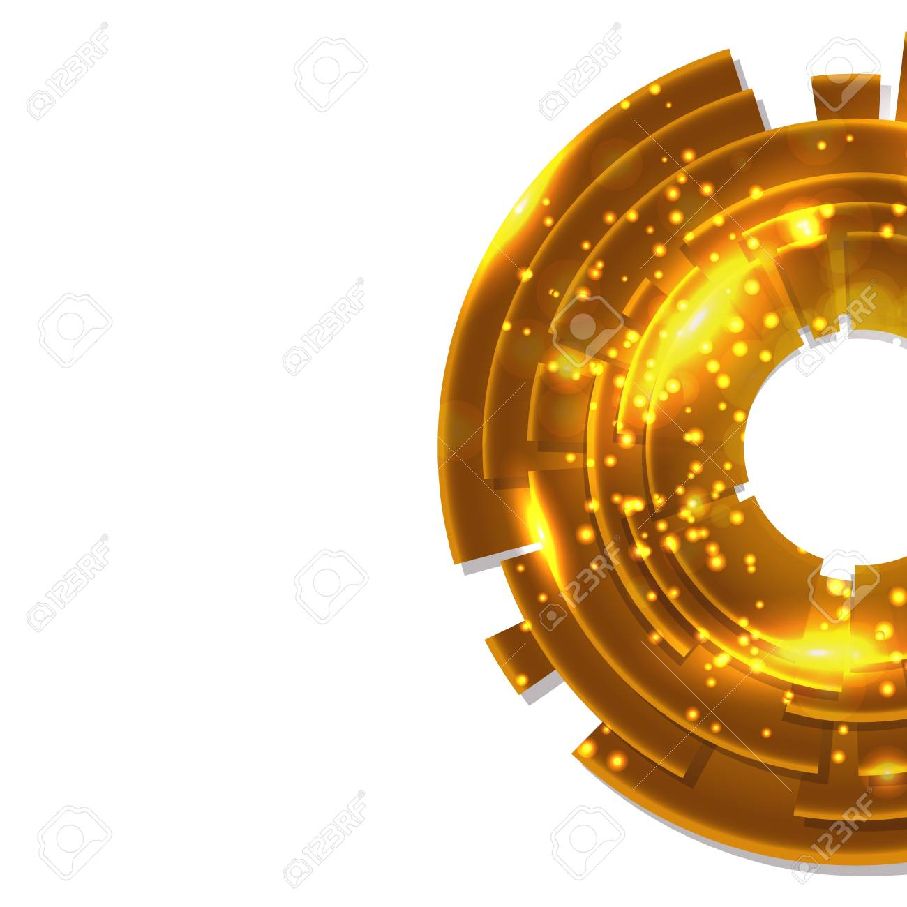 Abstract gold background with black copy space Stock Vector - 17539428