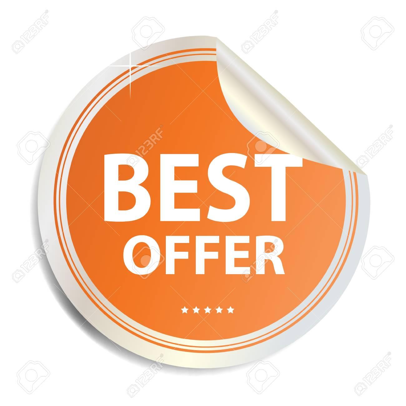 Vector Best offer label  sticker Stock Vector - 17539813