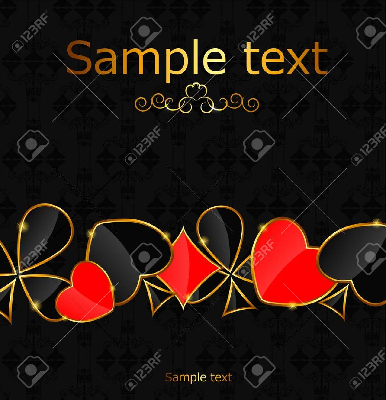 Abstract background with card suits for design  Vector illustrat Stock Vector - 19635457