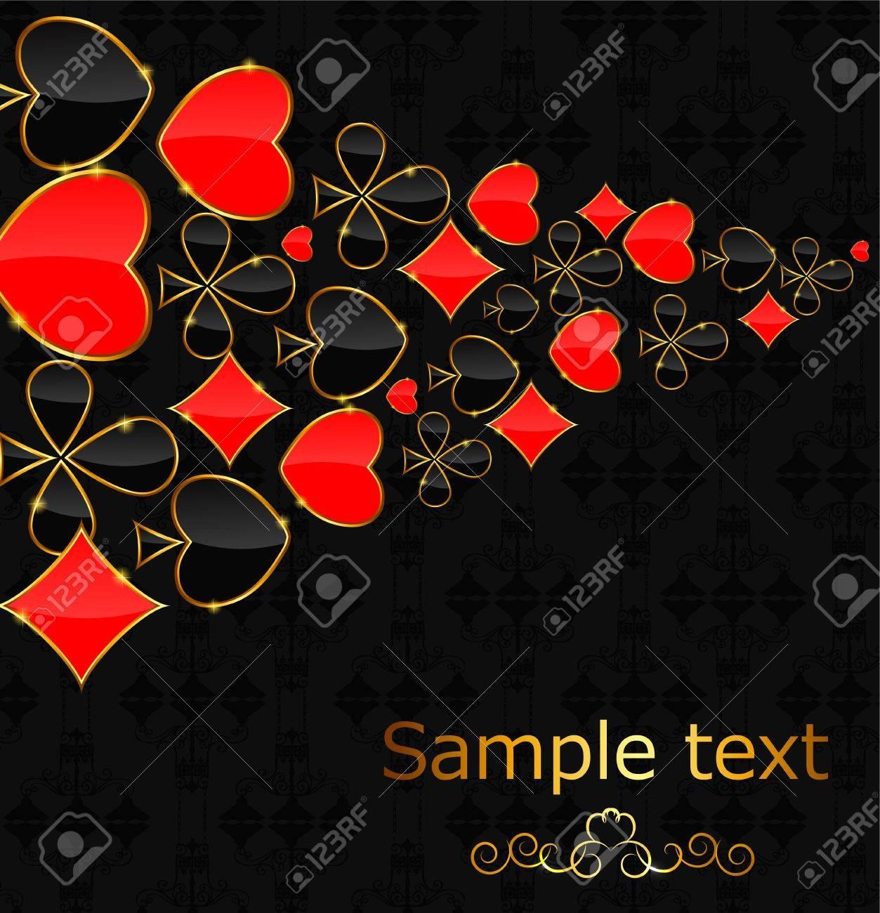 Abstract background with card suits for design  Vector illustrat Stock Vector - 19635463