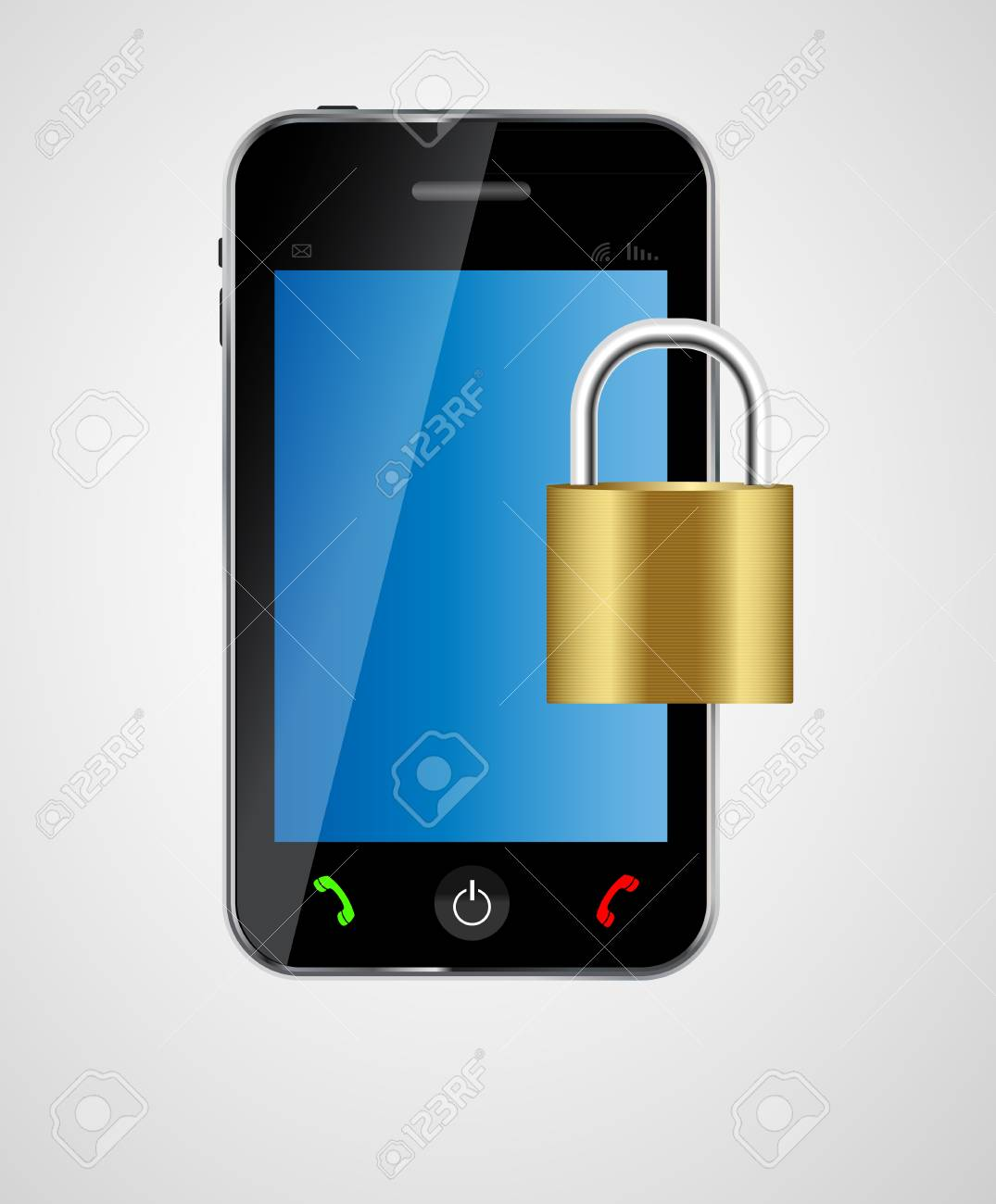 security phone concept vector illustration Stock Vector - 20228047
