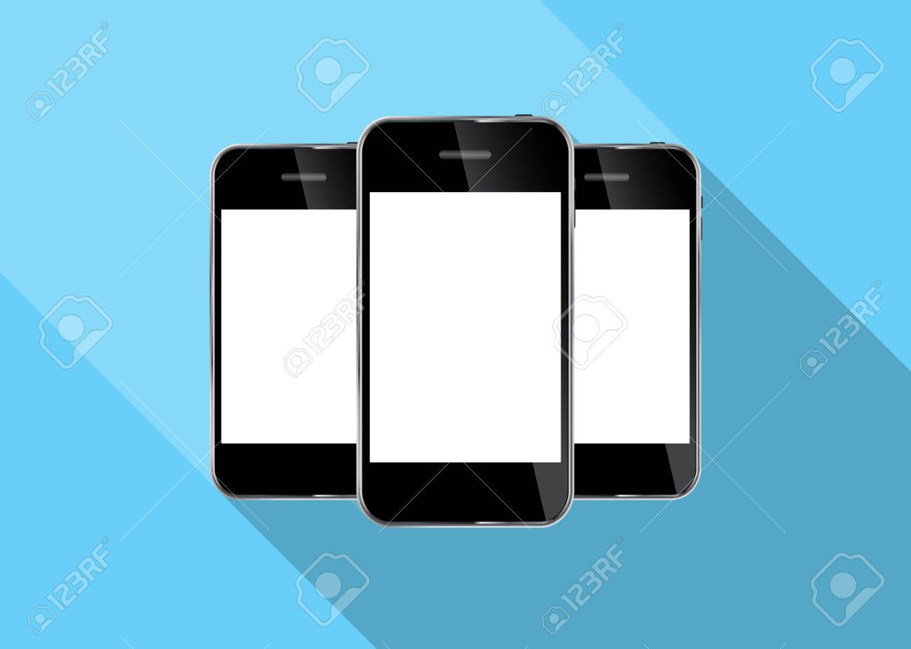 Abstract Design Realistic Mobile Phone Illustration Stock Vector - 26337408
