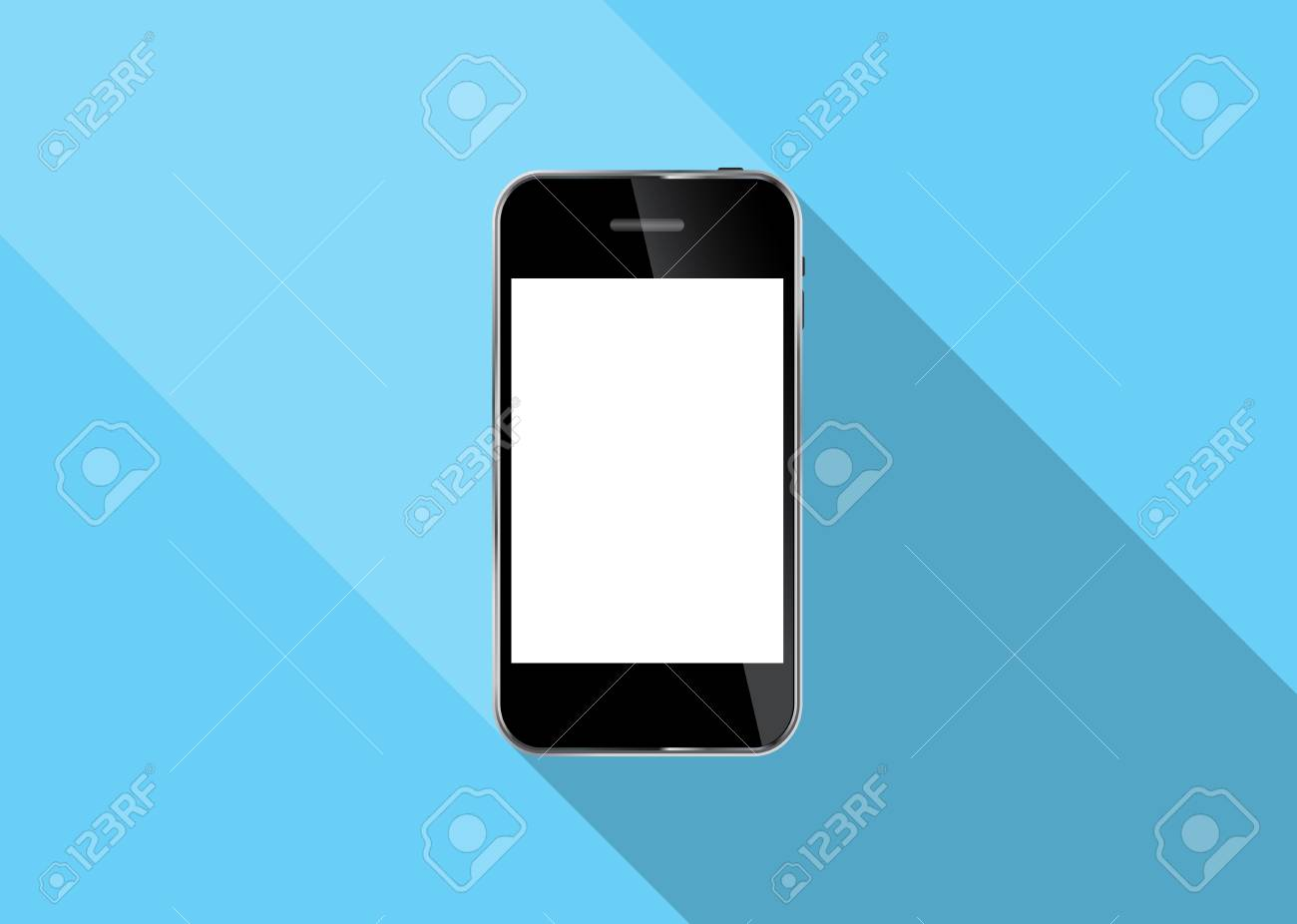 Abstract Design Realistic Mobile Phone Illustration Stock Vector - 26338377
