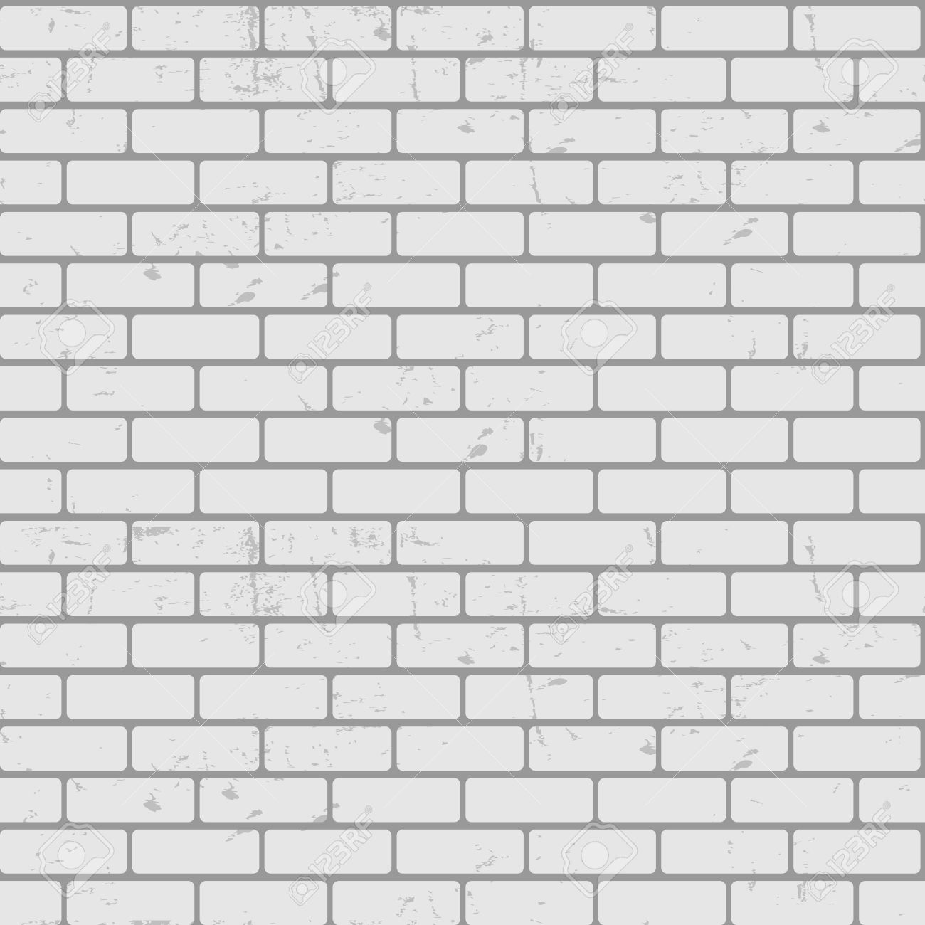 Background Of Brick Wall Texture Seamless Pattern Vector Illustration Stock