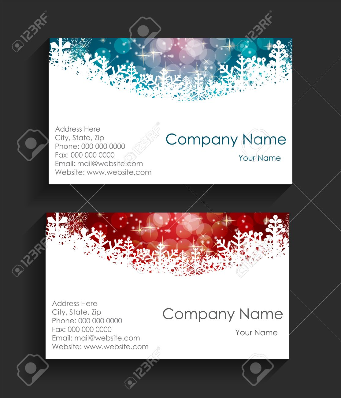 Company Christmas Business Card Vector Illustration Royalty Free ...