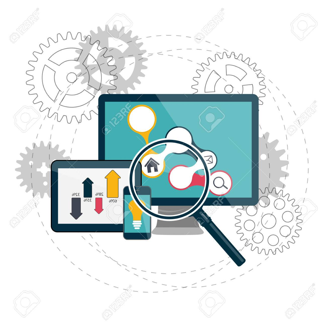 Search Engines Optimization Concept Vector Illustration - 34195321