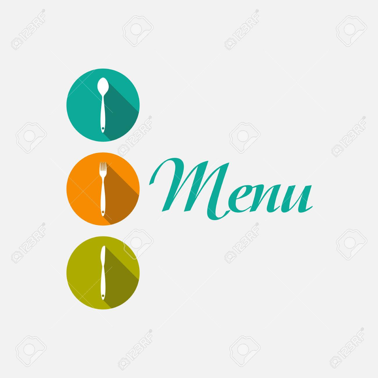 restaurant menu background template vector illustration royalty free