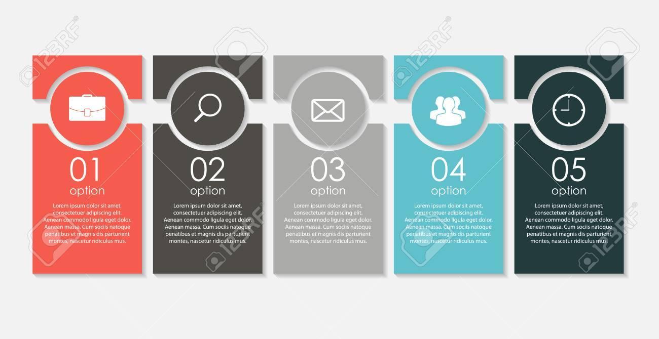 Plantillas De Infografía De La Ilustración De Negocios Del Vector ...