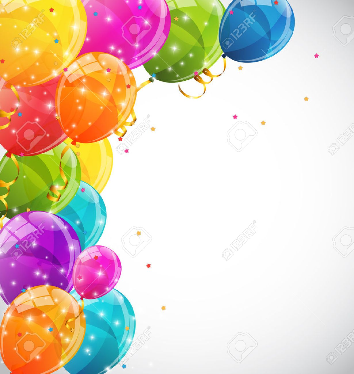 Color Glossy Balloons Background Vector Illustration EPS10 - 50708901