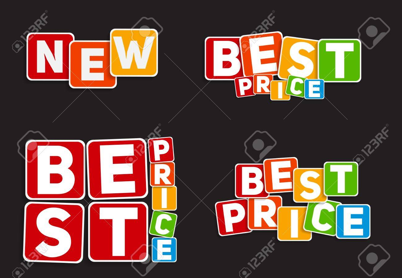 new best price sign template vector illustration royalty free