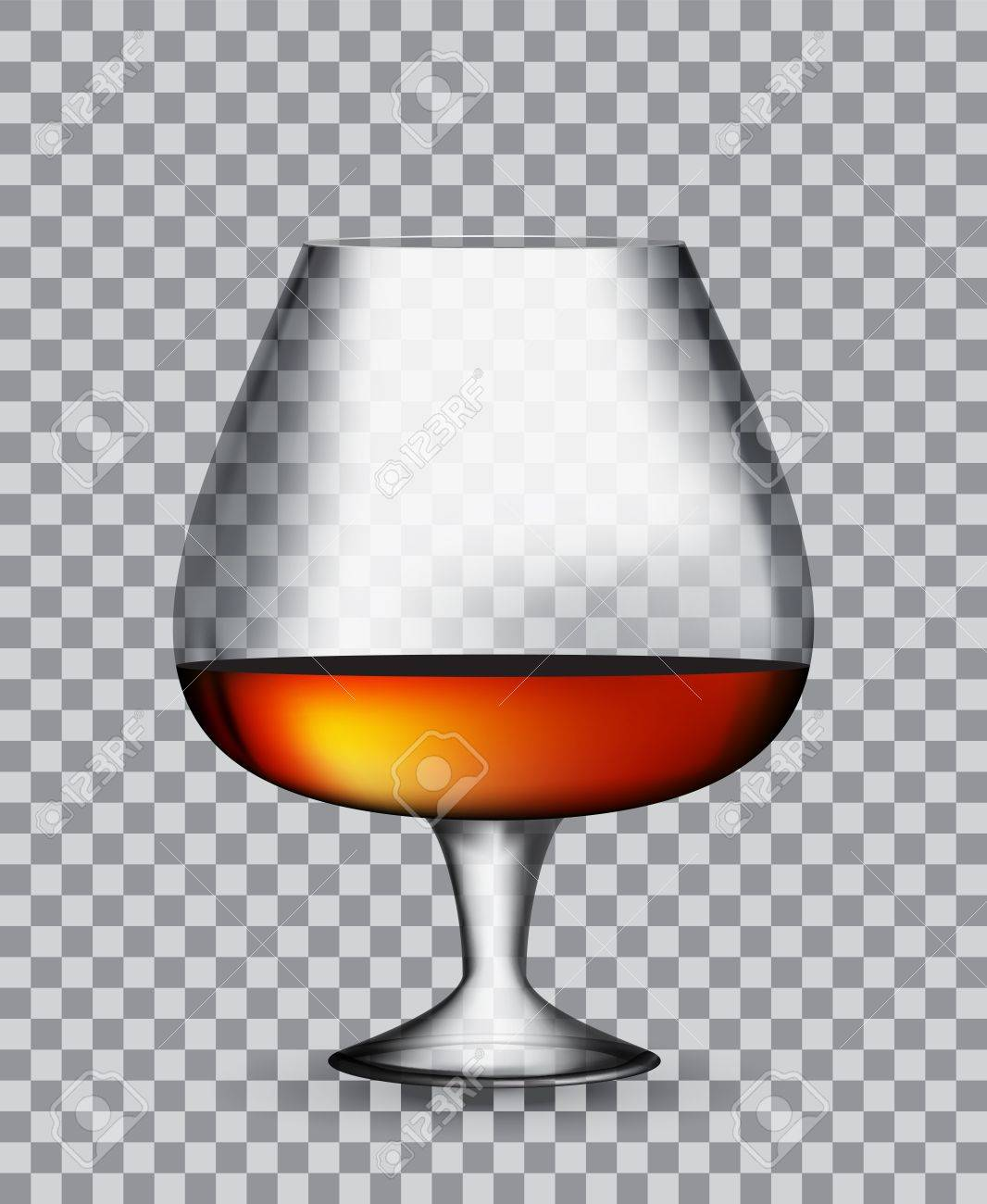 Background image 50 transparent - Glass Collector 50 Year Old French Cognac On Transparent Background Vector Illustration Eps10