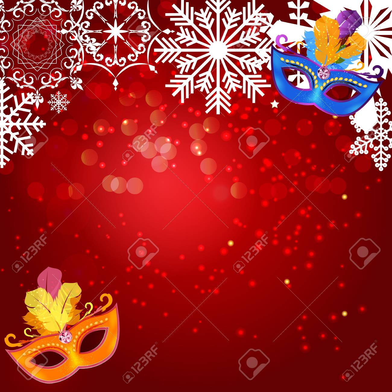 2d3ee0b4e6fb Abstract Beauty Merry Christmas and New Year Party Background with  Masquerade Carnival Mask. Vector illustration