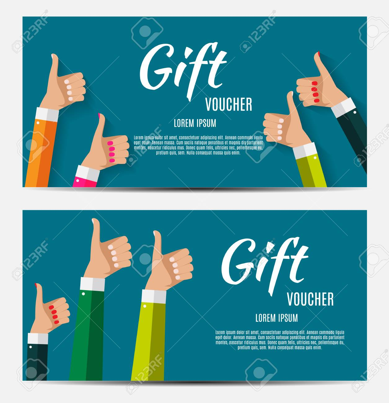 gift voucher template for your business vector illustration royalty