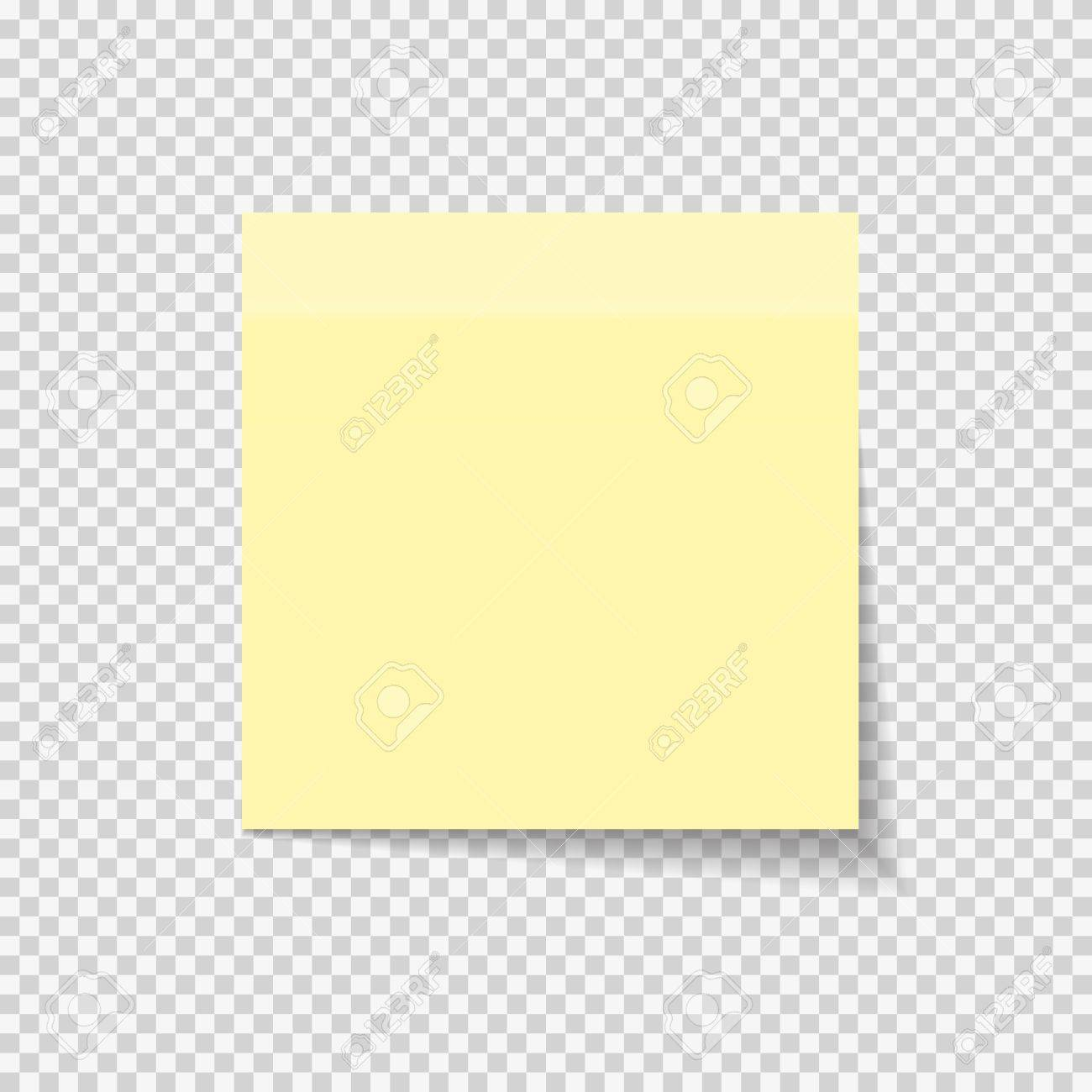 Sticky Paper Note on Transparent Background Vector Illustration EPS10 - 79890132