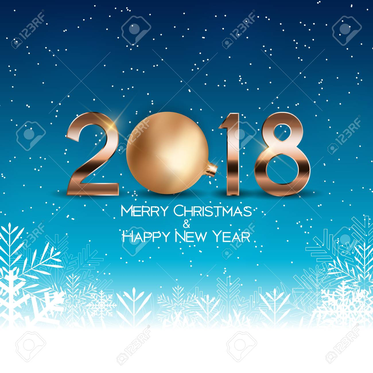 abstract beauty christmas and 2018 new year background vector illustration stock vector 87350281
