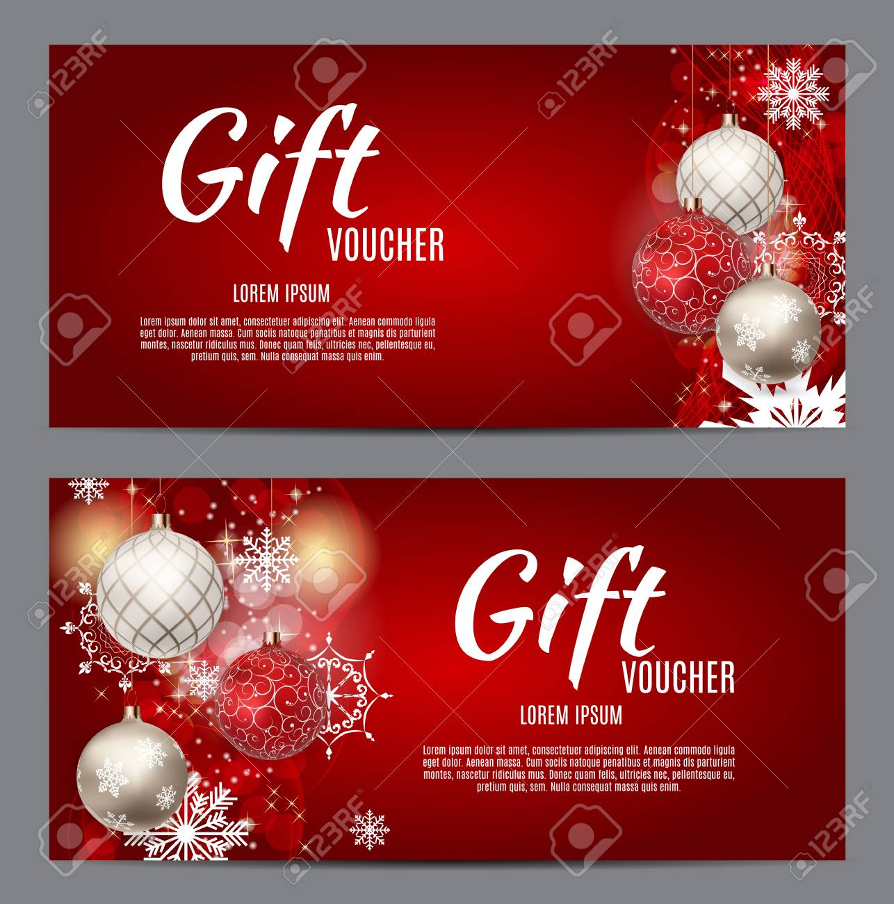 christmas and new year gift voucher discount coupon template
