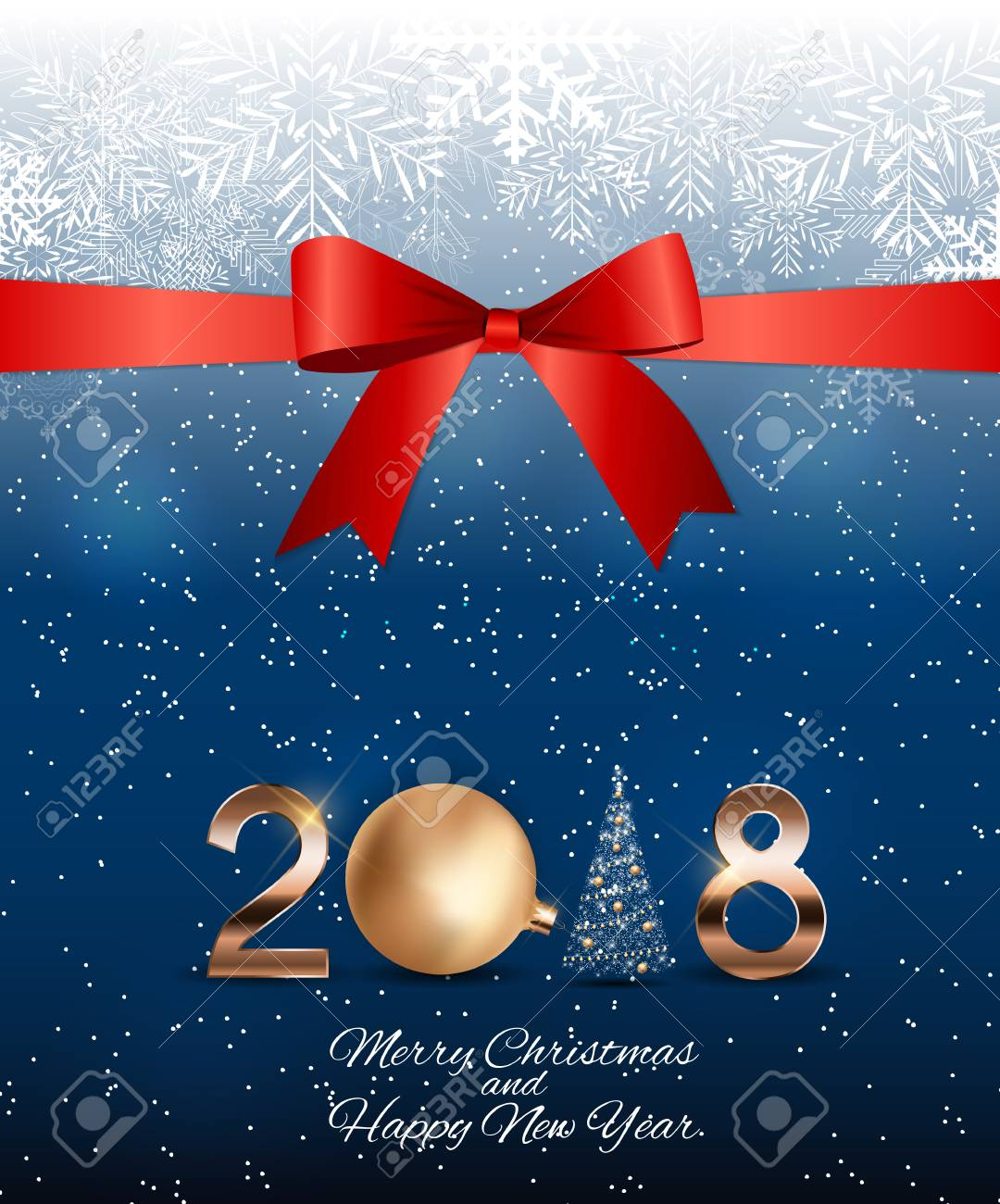2018 new year background with christmas ball vector illustration stock illustration 89373521