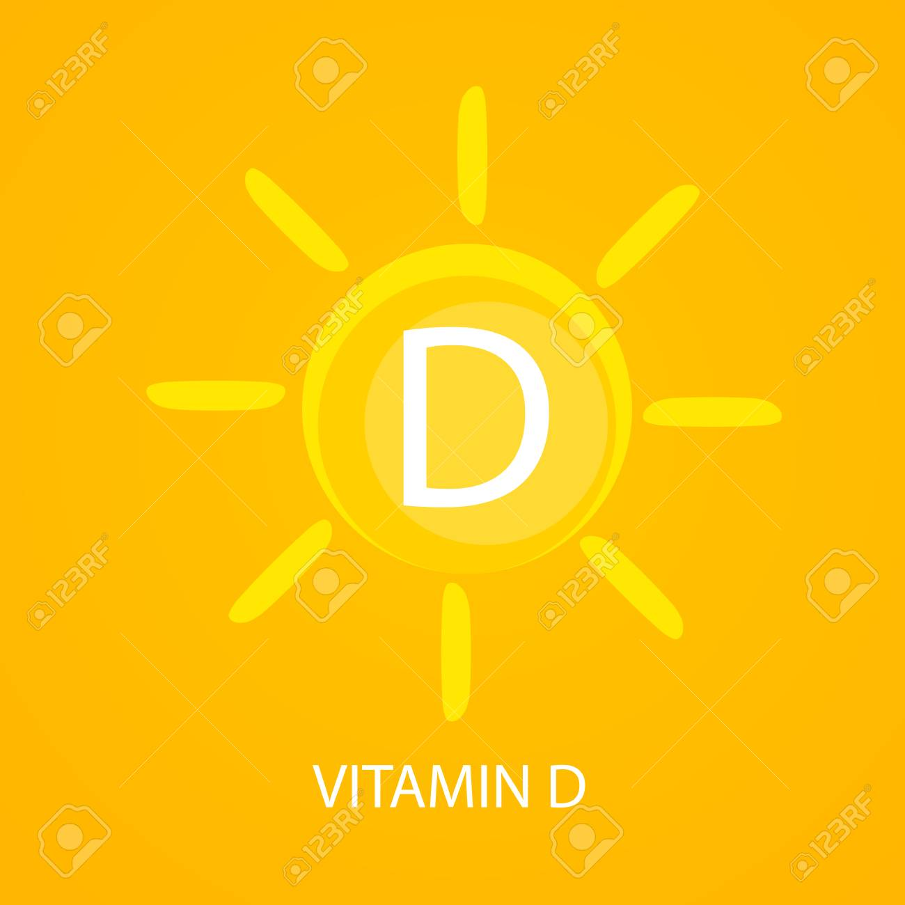 Vitamin D Icon With Sun Vector Illustration Stock Photo Picture And Royalty Free Image Image 90342632