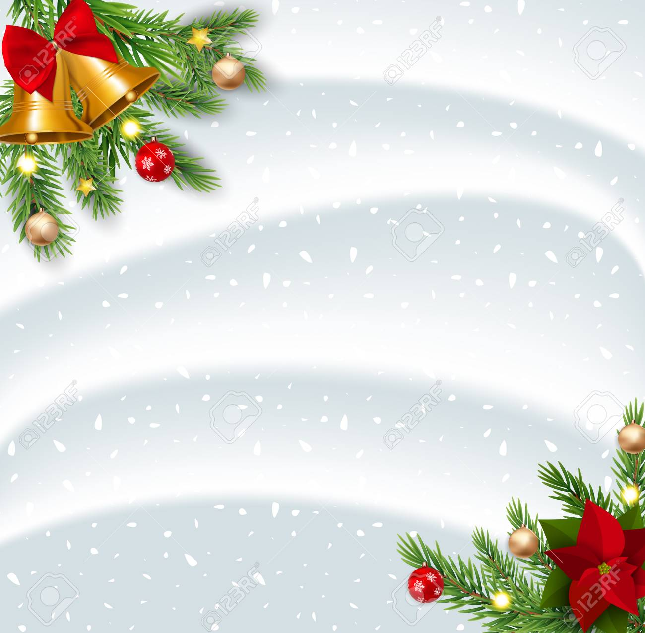 illustration merry christmas and new year background vector illustration