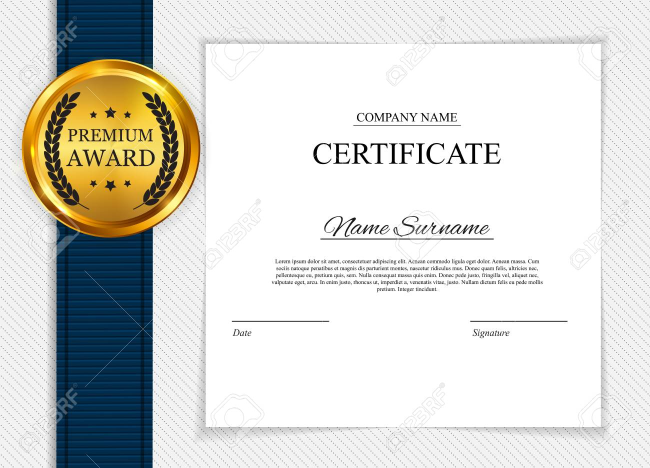 Blank Certificate Design from previews.123rf.com