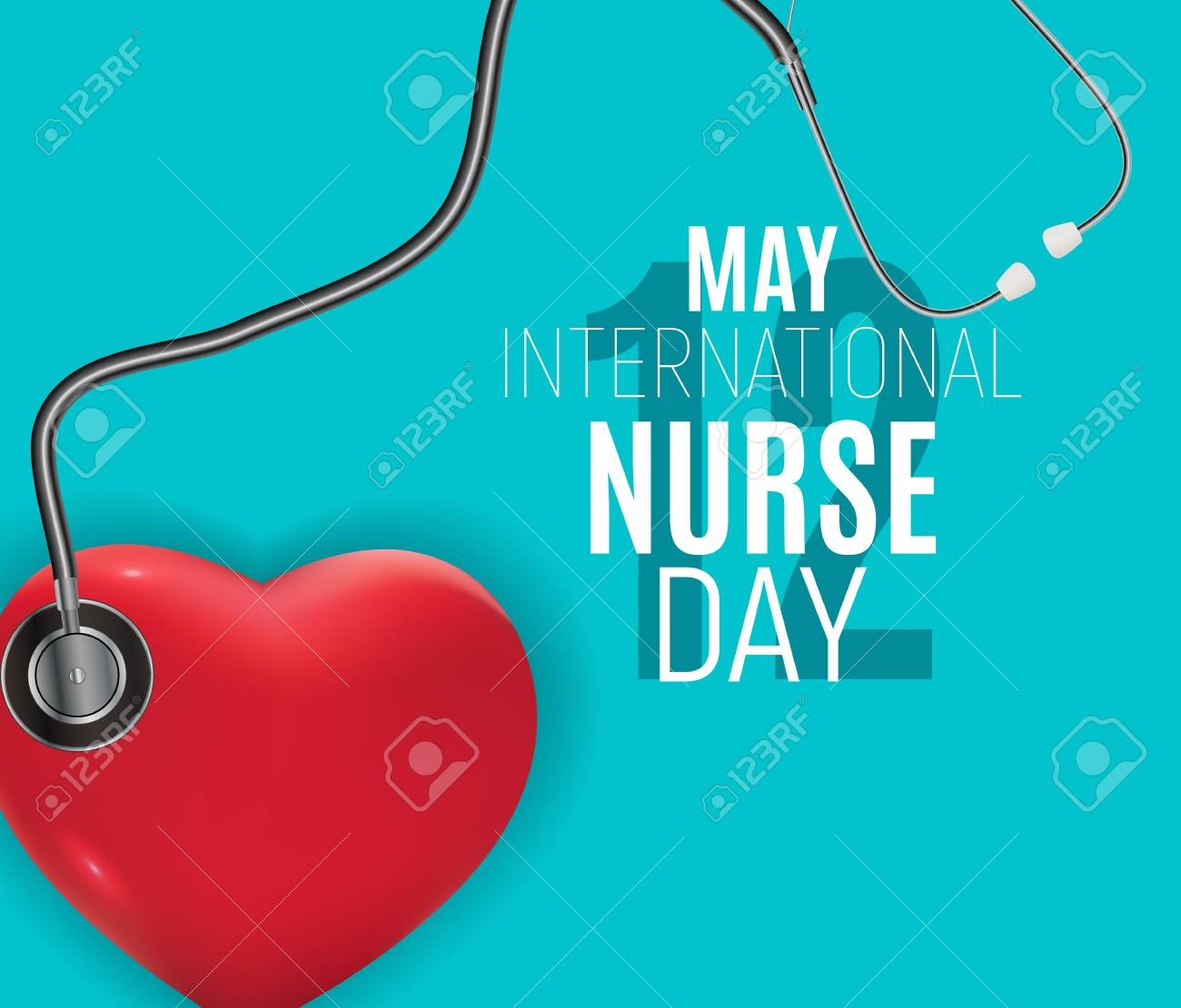 12 May International Nurse Day Medical background Vector illustration EPS10 - 124640385