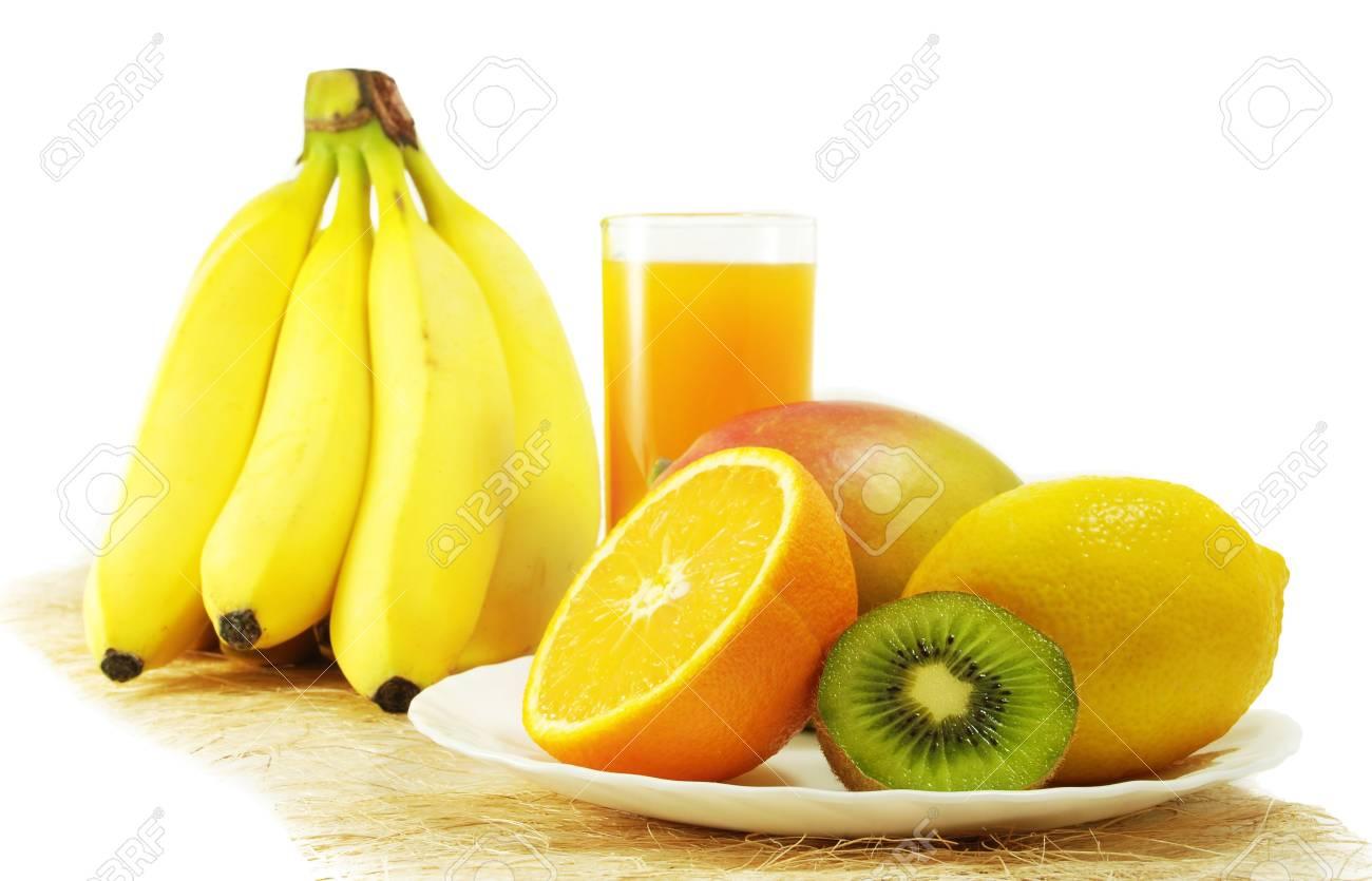 Fresh fruits isolated on a white background Stock Photo - 4323933