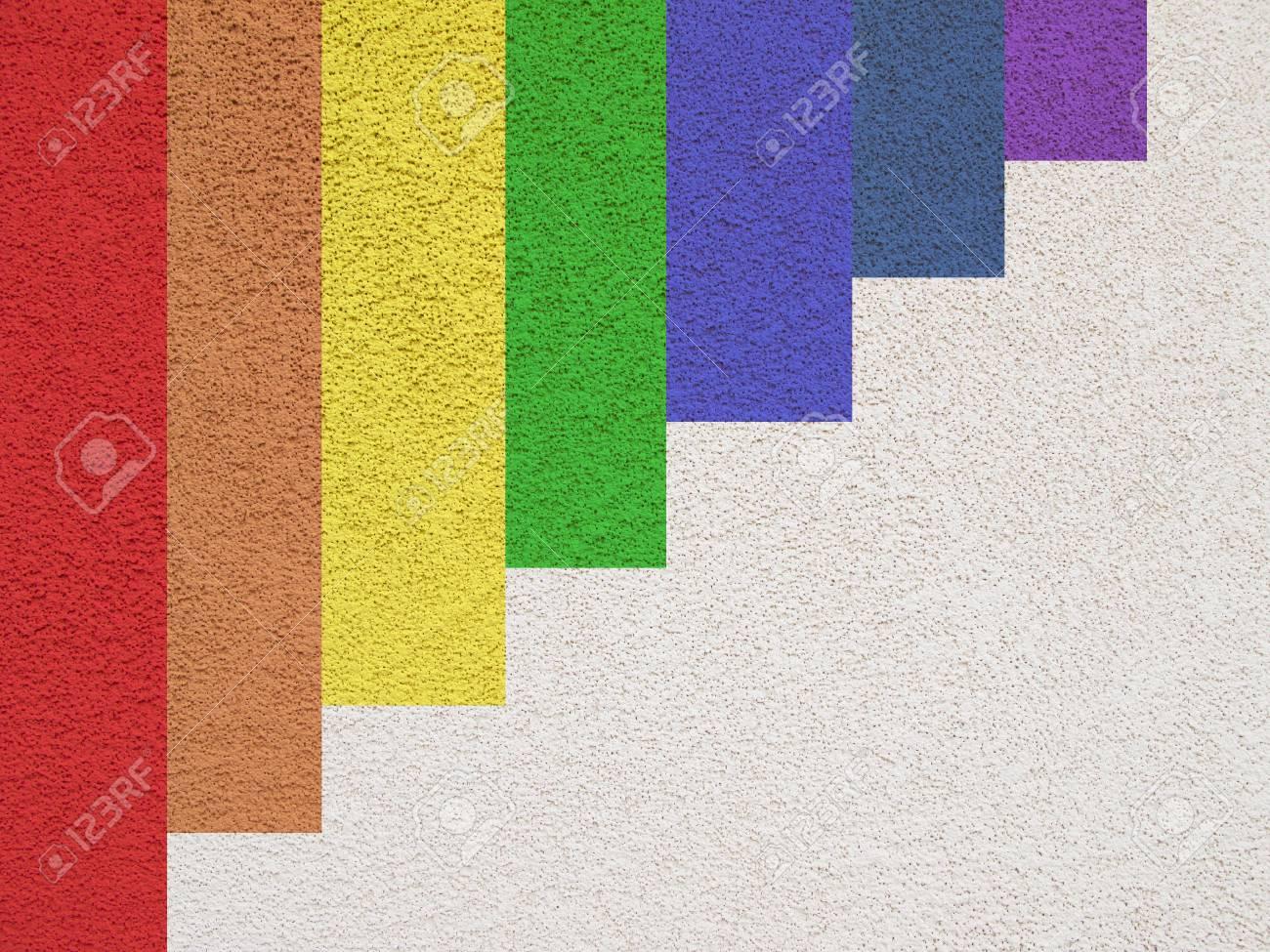 Peinture De Couleur Différente Sur Un Mur