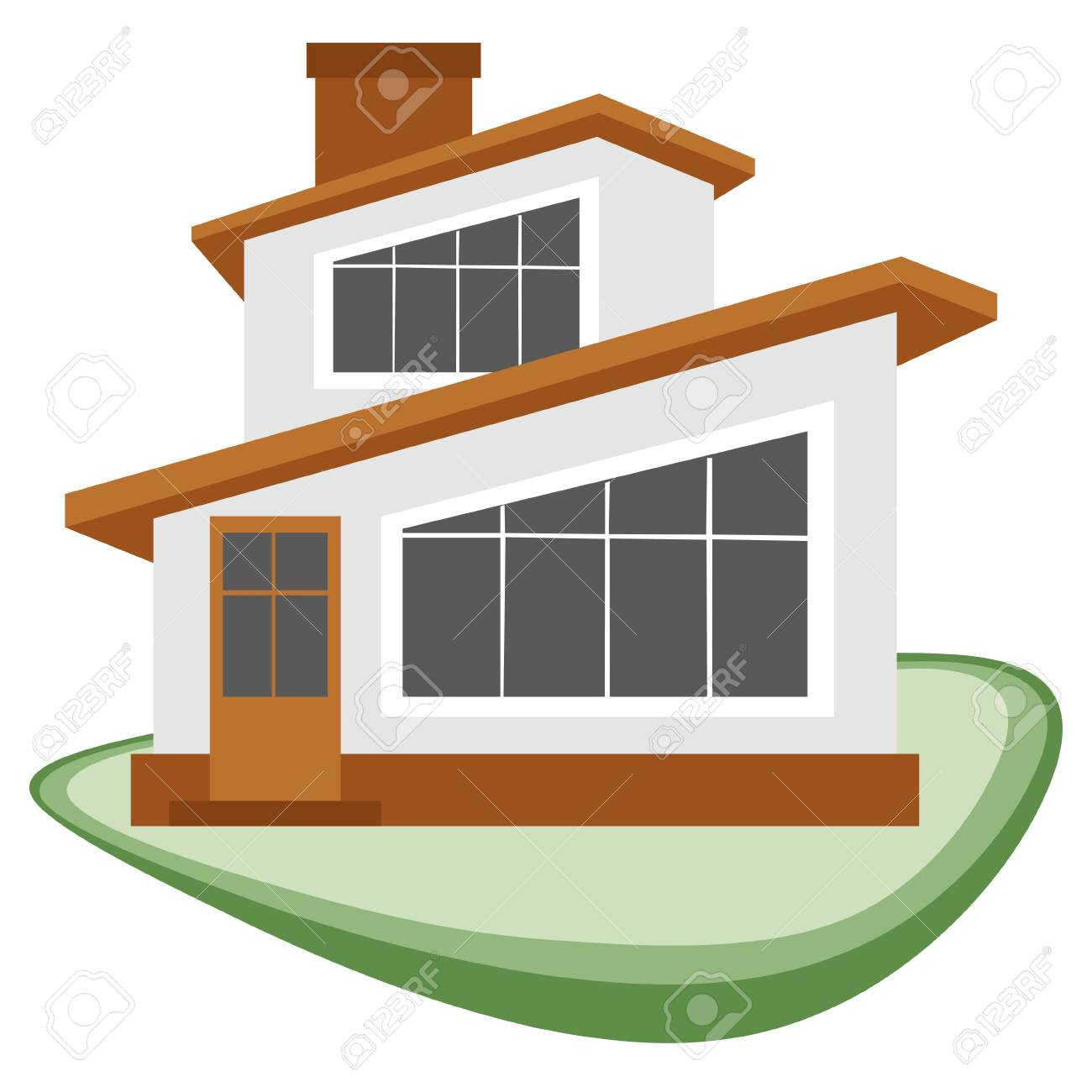 An illustration of a house to be used as a symbol or icon Stock Vector - 18307113