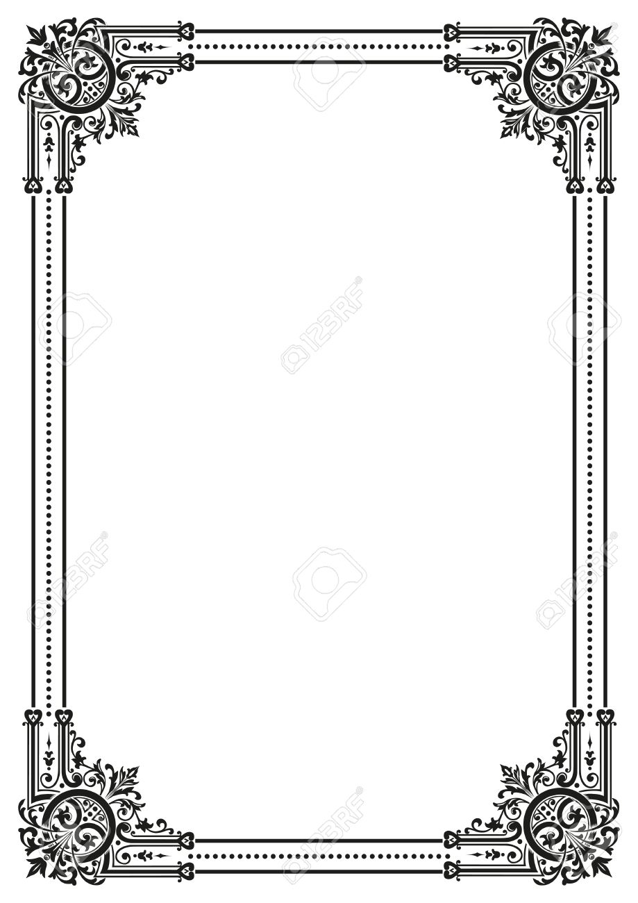 Decorative Retro Frame. Vector File Available Royalty Free Cliparts ...