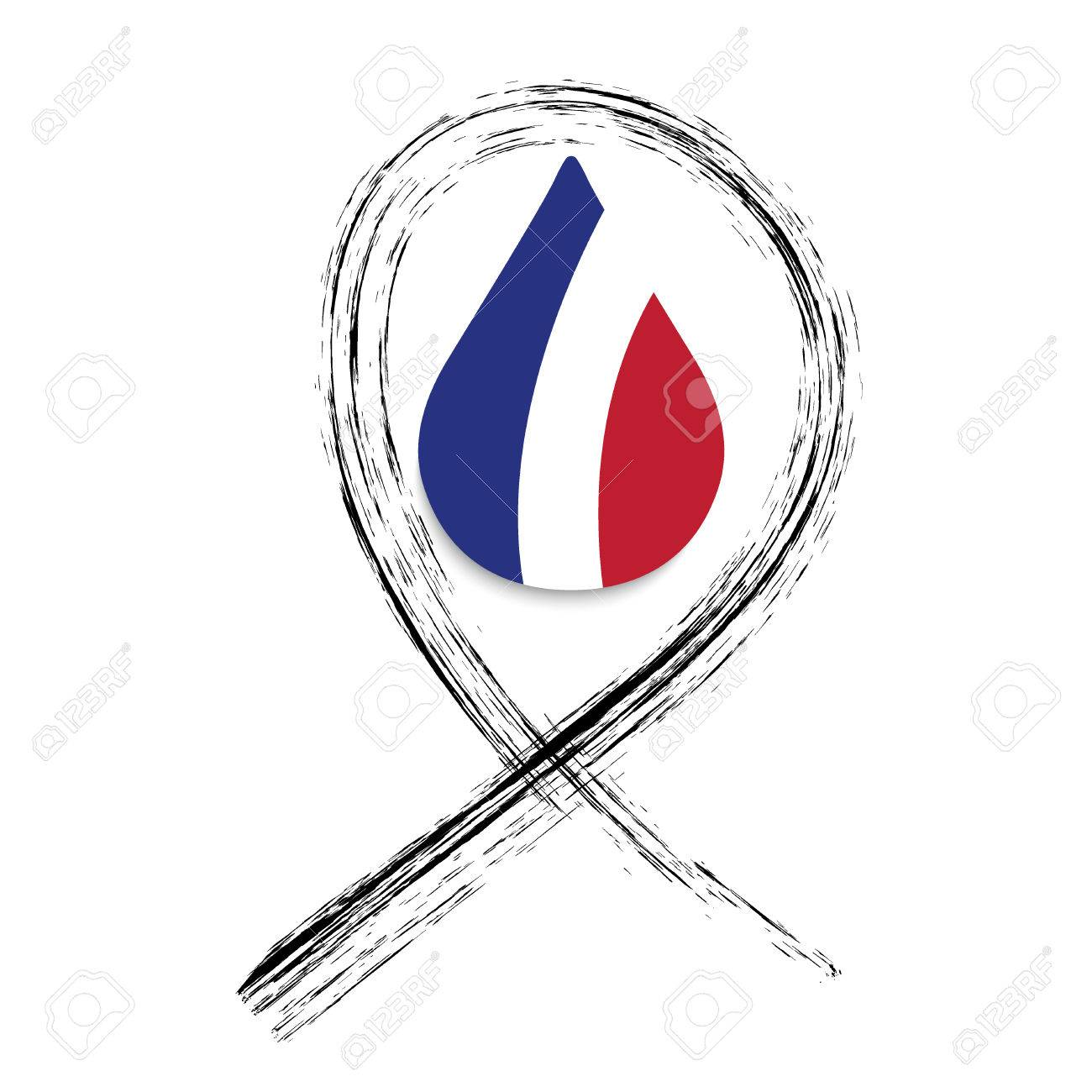Black Ribbon Pray For Nice World Support For Nice Nice Terror