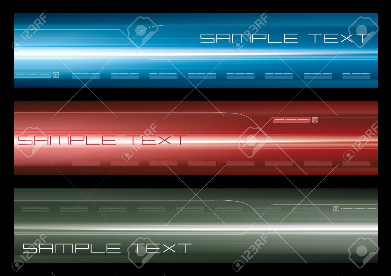 Abstract web banner Stock Vector - 7516564