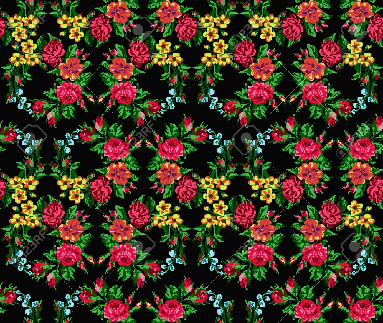 Fonds D écran Ou Textile Bouquet De Cercle De Couleur De Fleurs