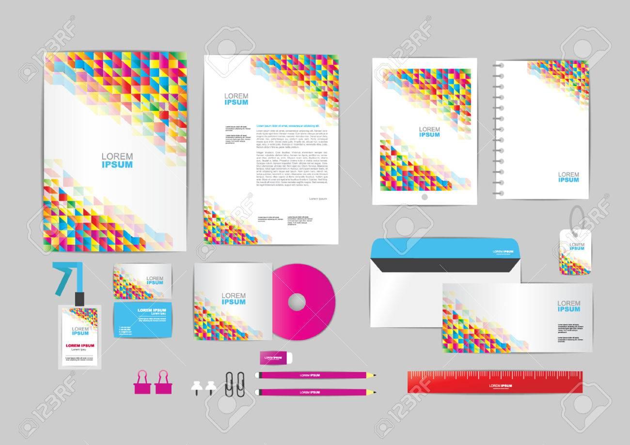 Bunt Mit Dreieck Corporate Identity Vorlage Für Ihr Unternehmen ...