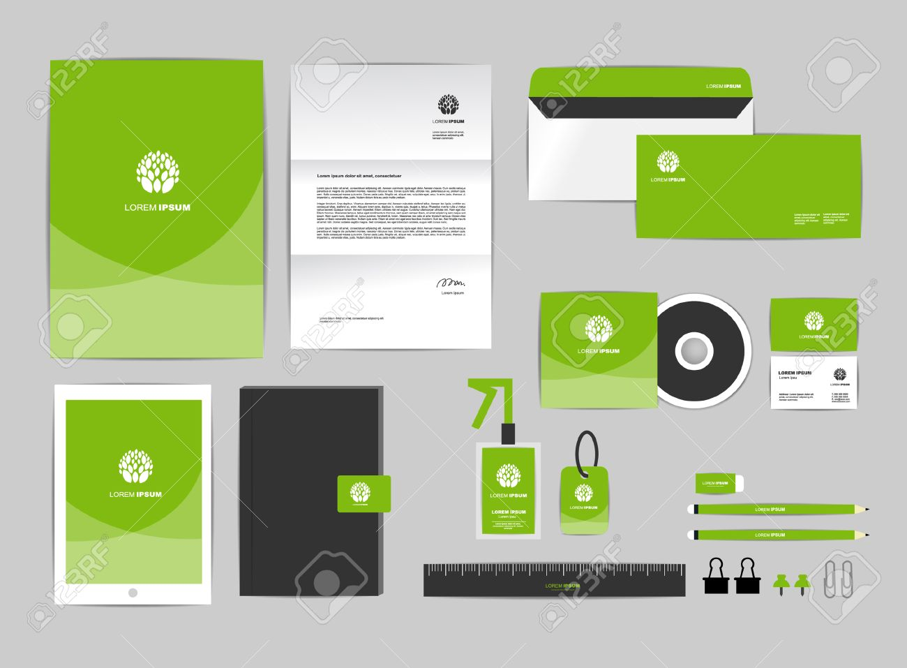 Corporate Identity Template Includes CD Cover, Business Card ...