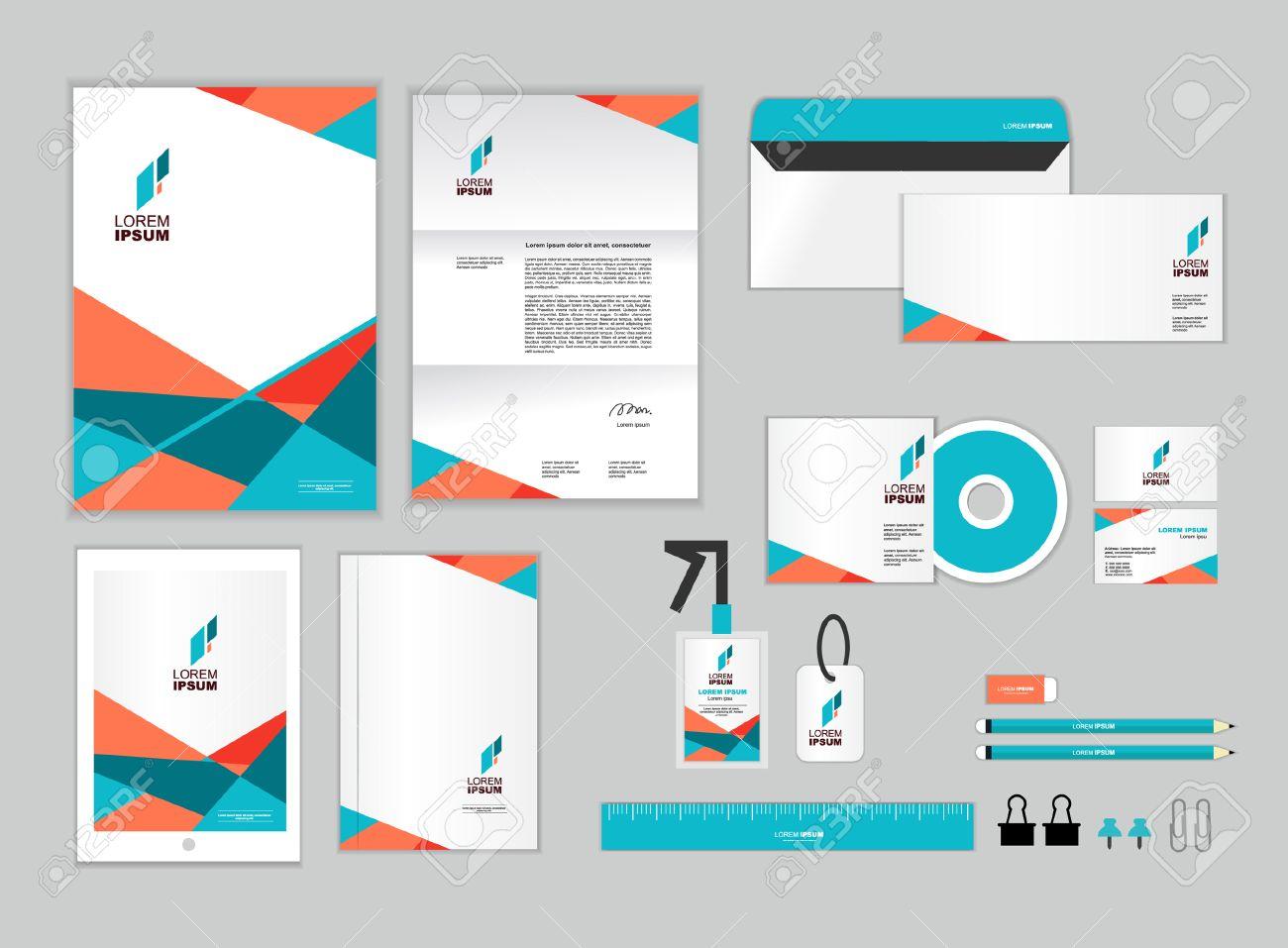 Business Card Letterhead Envelope Template