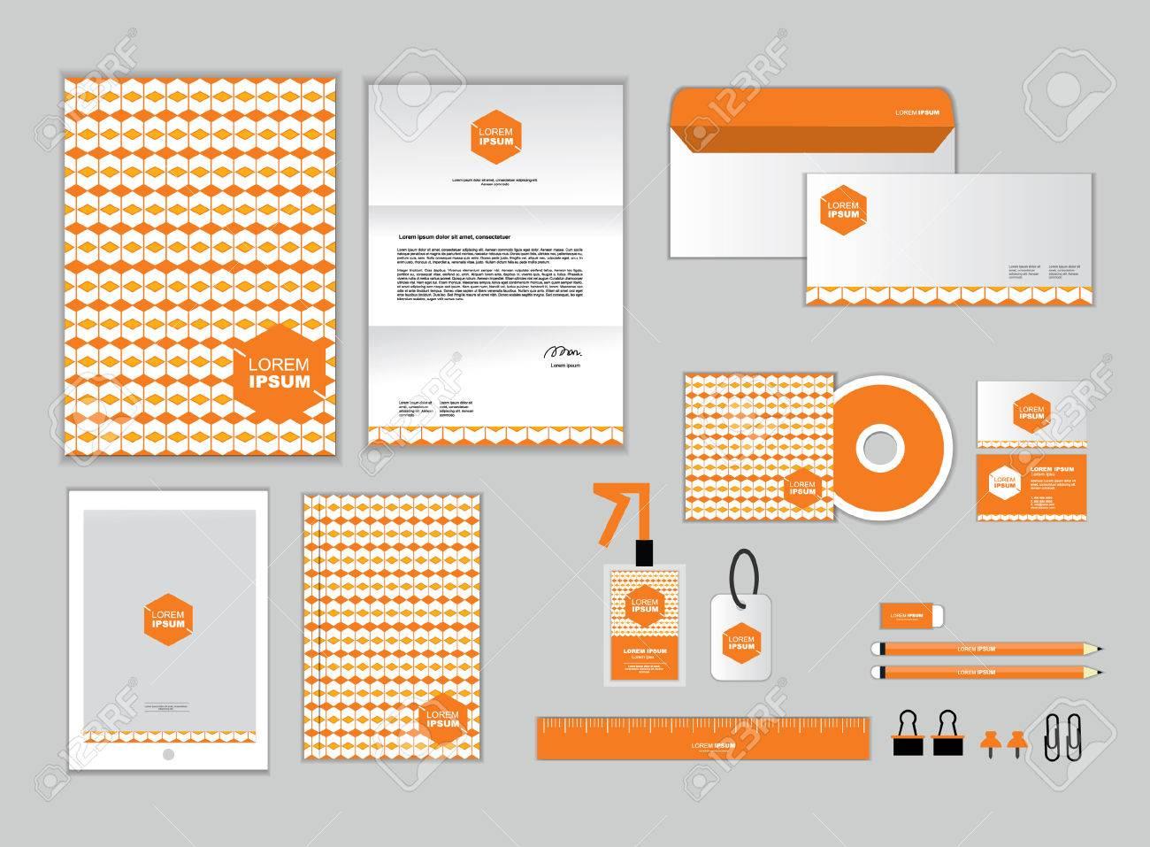 Corporate Identity Vorlage Enthält CD Cover, Visitenkarte, Ordner ...