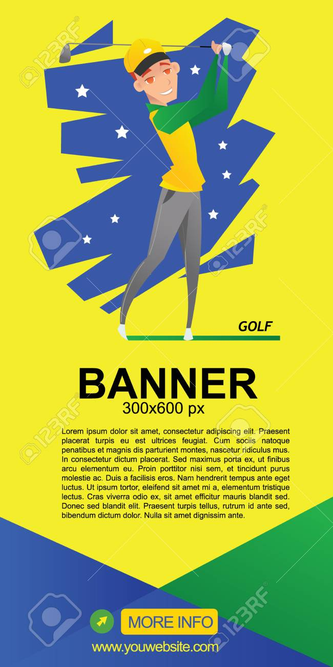Golf Web Banner Design Royalty Free Cliparts Vectors And Stock Illustration Image 61109279