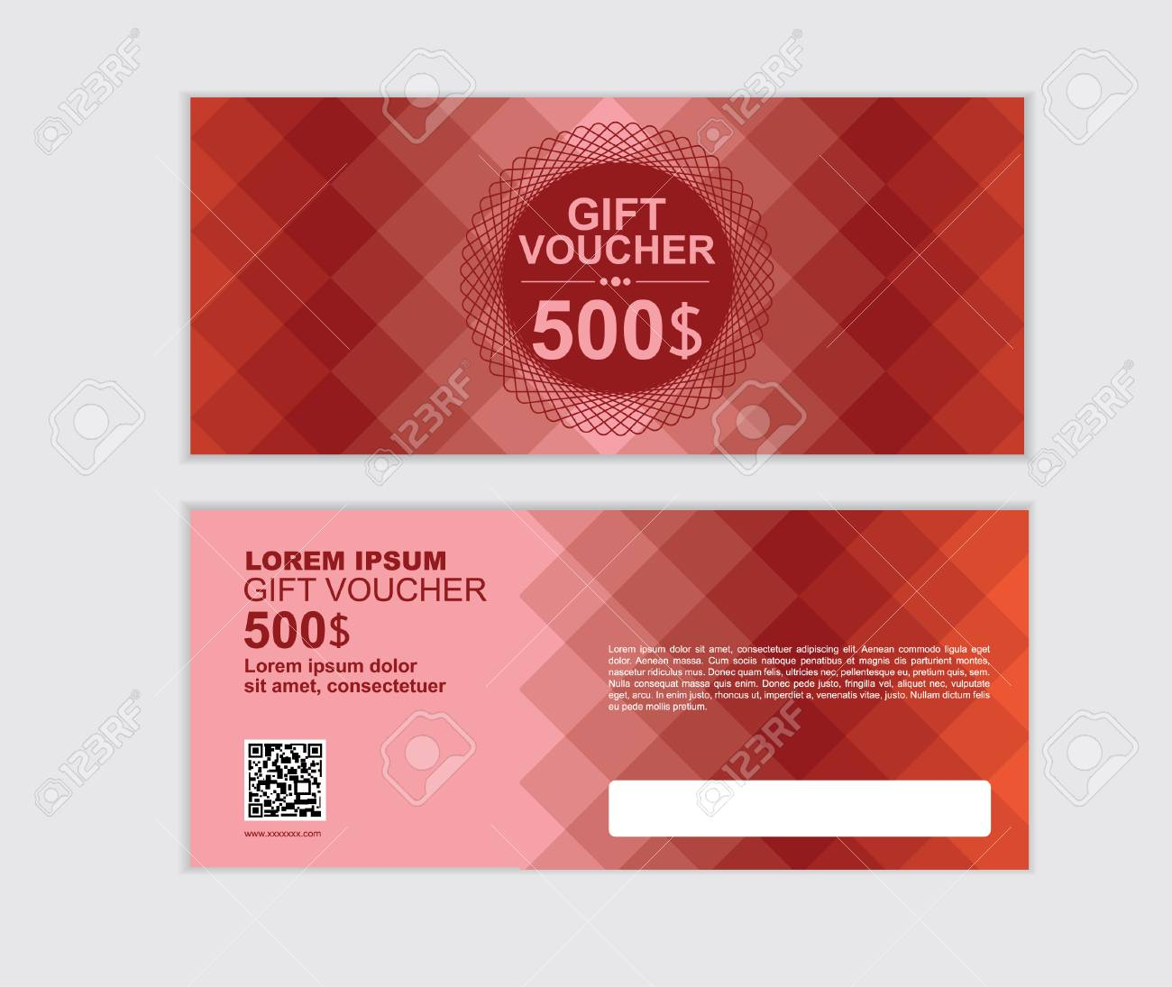 gift voucher vector design template set ag royalty free cliparts