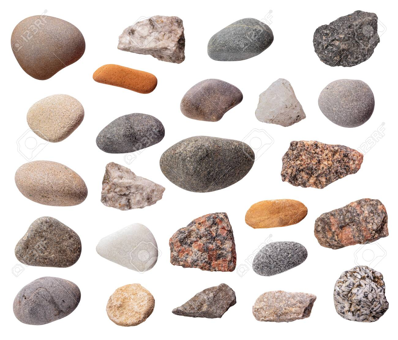 Stones set isolated - 156847296