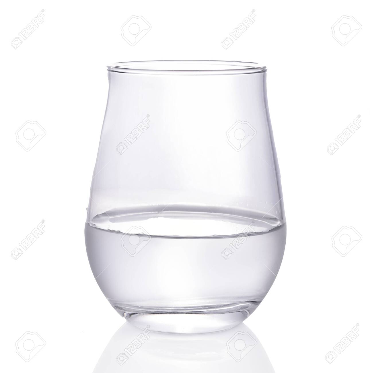 glass of water isolated on white background. - 145466051