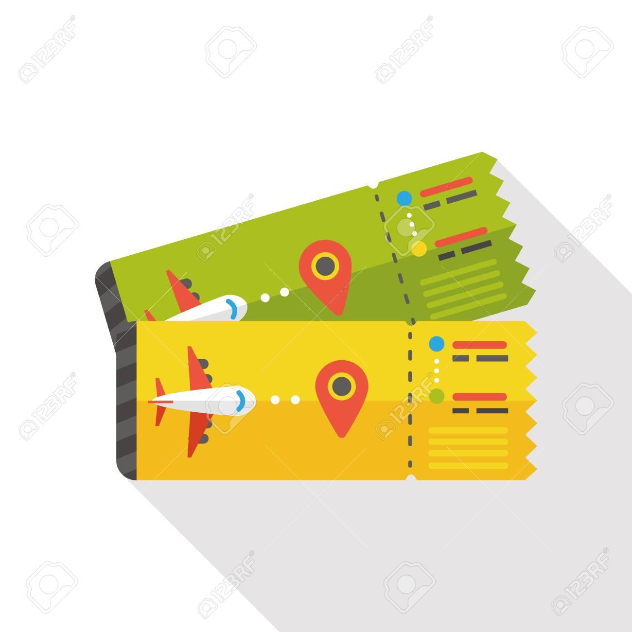 air ticket flat icon - 47557969