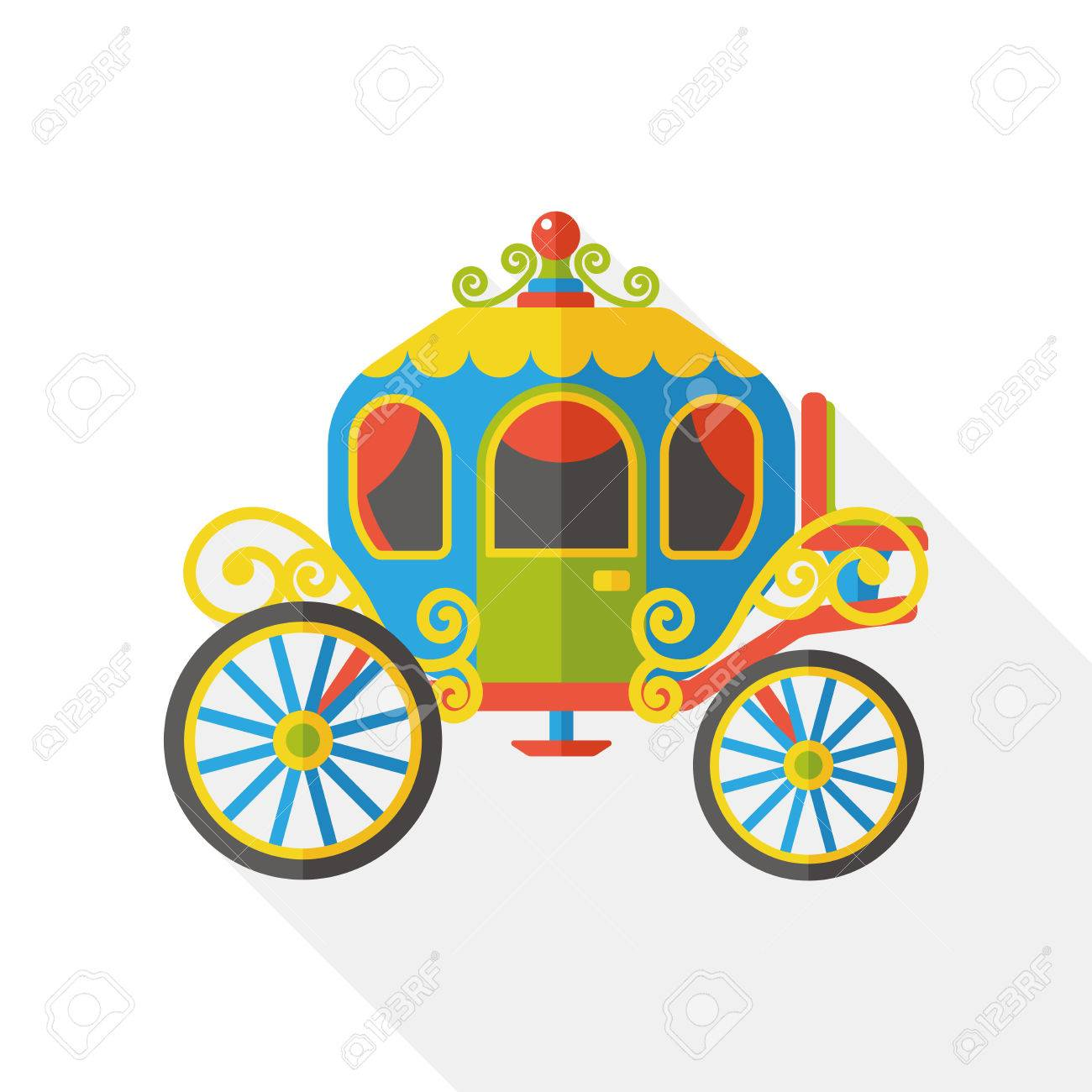 horse carriage flat icon - 48134036