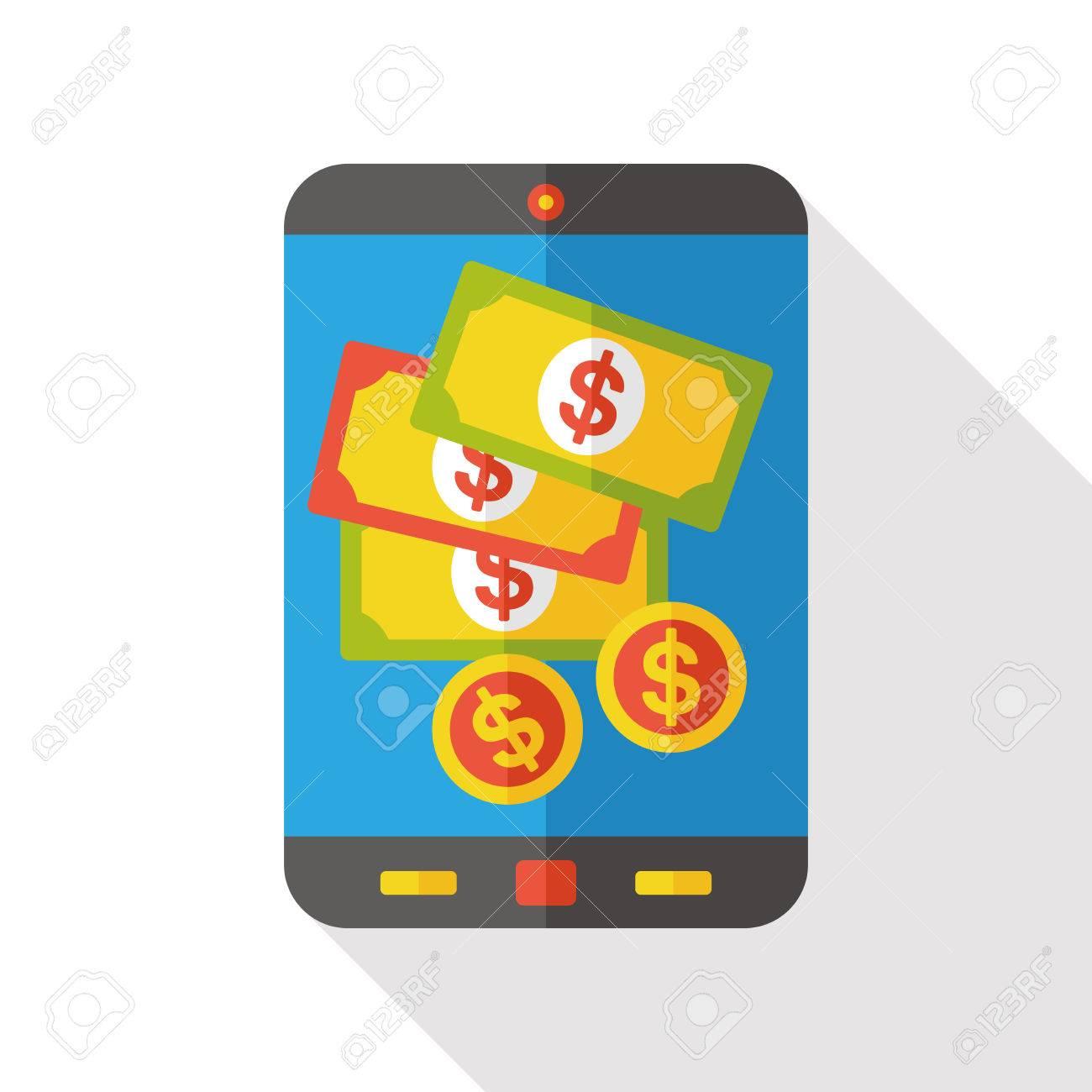 money cellphone flat icon - 48864652
