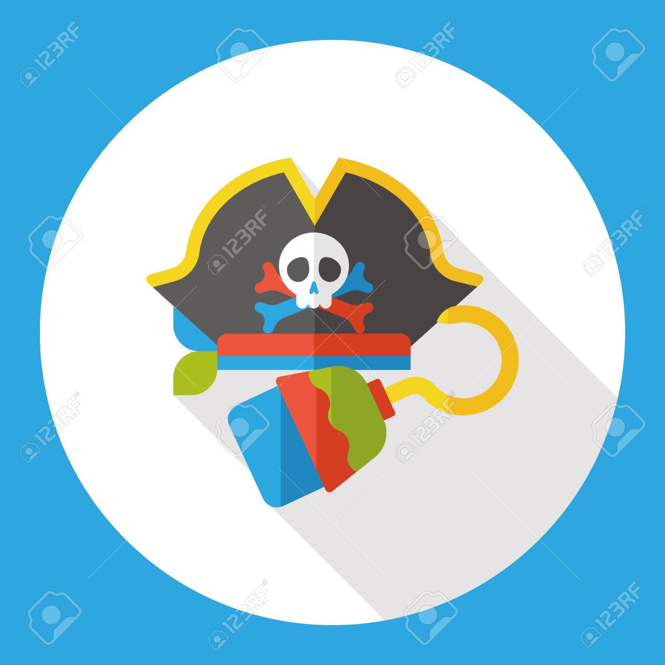 5a0b19a4 Pirate Hat Flat Icon Royalty Free Cliparts, Vectors, And Stock ...