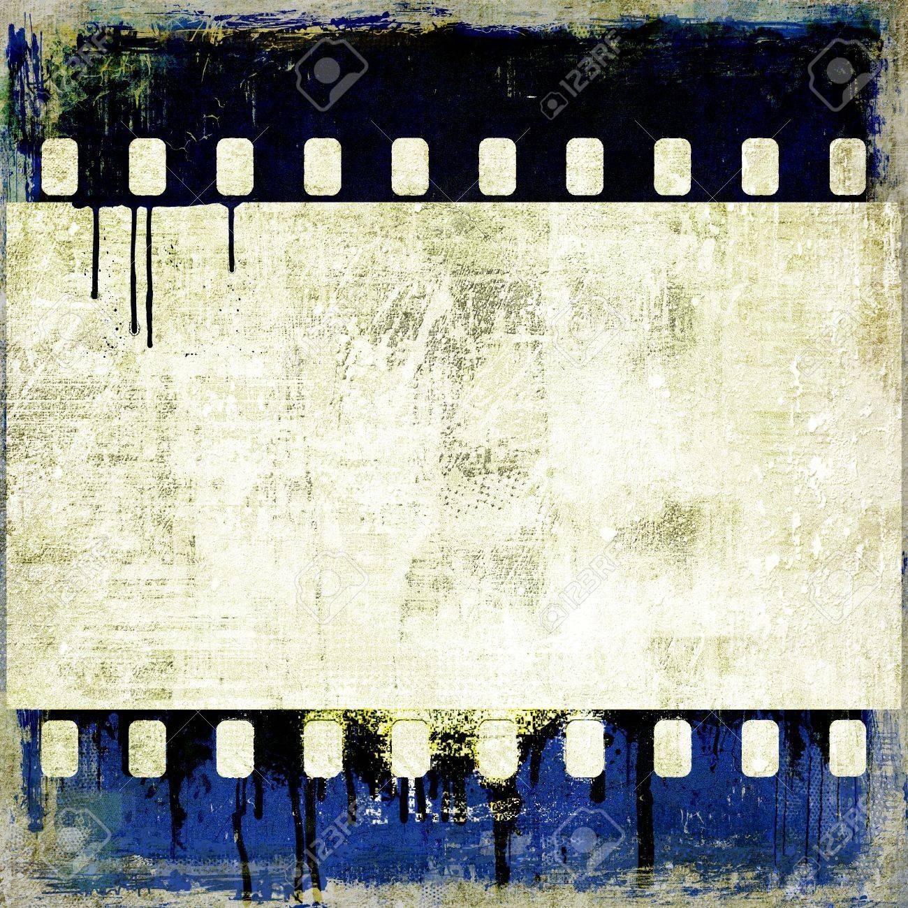 Grunge striscia di pellicola blu cornice Archivio Fotografico - 15701349
